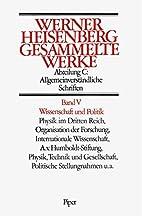 Gesammelte Werke, Bd. V: Wissenschaft und…