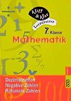 Mathematik, 7. Klasse. Dezimalzahlen,…