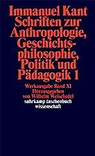 Schriften Zur Anthropologie,…