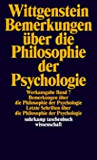 Remarks on the Philosophy of Psychology by…