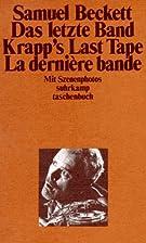 Krapp's Last Tape by Samuel Beckett