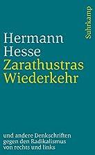 Zarathustras Wiederkehr by Hermann Hesse