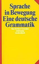 Sprache in Bewegung by Herbert Genzmer