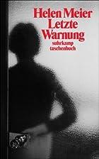 Letzte Warnung: Geschichten (suhrkamp…
