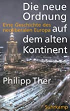 Europe since 1989: A History by Philipp Ther