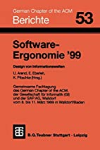 Software-Ergonomie '99 by Udo Arend