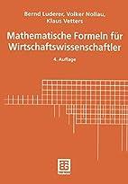 Mathematische Formeln für…