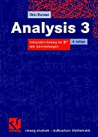 Analysis 3 by Otto Forster