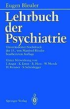 Textbook of psychiatry by Eugen Bleuler
