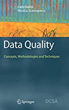 Data Quality: Concepts, Methodologies and…