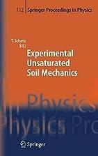 Experimental Unsaturated Soil Mechanics…