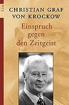 Einspruch gegen den Zeitgeist. by Christian…