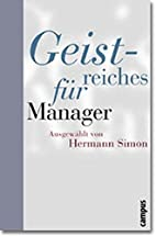 Geistreiches für Manager. by Hermann Simon