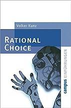 Rational Choice (Campus Einführungen)…