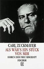A Part of Myself by Carl Zuckmayer