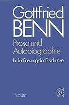 Prosa und Autobiographie in der Fassung der…