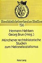 Münchener rechtshistorische Studien zum…