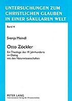 Otto Zöckler : ein Theologe des 19.…