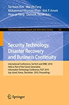 Security Technology, Disaster Recovery and…