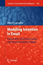 Modeling Intention in Email: Speech Acts,…