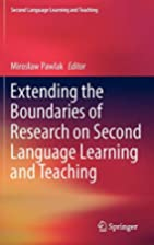 Extending the Boundaries of Research on…