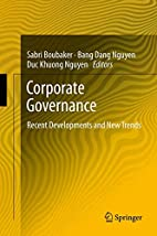 Corporate governance recent developments and…