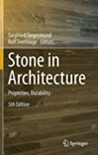 Stone in Architecture: Properties,…