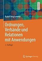 Ordnungen, Verbände und Relationen mit…