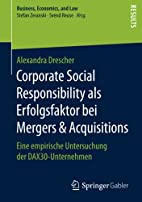 Corporate Social Responsibility als…
