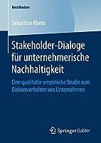 Stakeholder-Dialoge für unternehmerische…