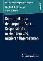Kommunikation der Corporate Social…