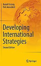 Developing International Strategies by…
