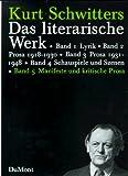 Schwitters, Kurt: Das Literarische Werk. Vol 5 (only): Manifeste und Literarische Prosa.