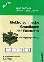 Elektronik I. Elektrotechnische Grundlagen…