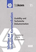 Usability und Technische Dokumentation by…