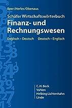 Schäfer Wirtschaftswörterbuch Finanz- und…