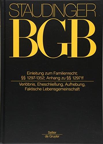 einleitung-zum-familienrecht-1297-1352-anh-zu-1297-eheschlieung-faktische-lebensgemeinschaft-german-edition