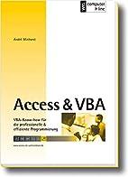 Access & VBA: VBA-Know-how für die…