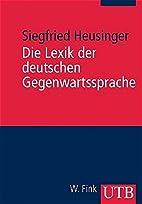 Die Lexik der deutschen Gegenwartssprache:…