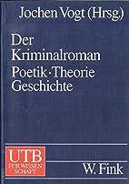 Der Kriminalroman: Poetik. Theorie.…