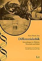 Differentialethik by Hans-Martin Sass
