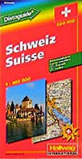 Rand McNally Hallwag Switzerland: Road Map :…