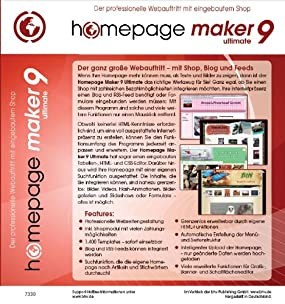homepage maker 9 Ultimate , Abbildung #01