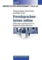 Fremdsprachenlernen online by Unknown