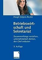 Betriebswirtschaft und Sekretariat by Margit…