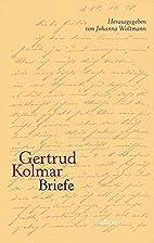 Briefe by Gertrud Kolmar