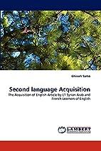 Second language Acquisition: The Acquisition…