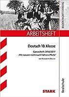 Arbeitsheft Realschule - Deutsch 10. Klasse…