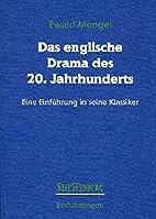Das englische Drama des 20. Jahrhunderts. by…