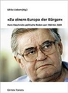 Zu einem Europa der Buerger - Hans…